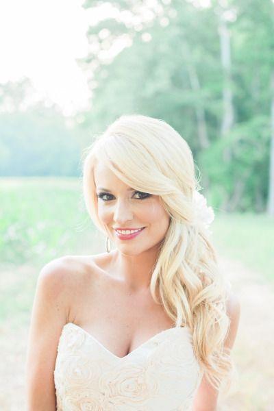 Emily Maynard's stunning wedding day hair: http://www.stylemepretty.com/2014/09/22/emily-maynards-surprise-wedding-to-tyler-johnson/ | Photography: Corbin Gurkin - http://corbingurkin.com/