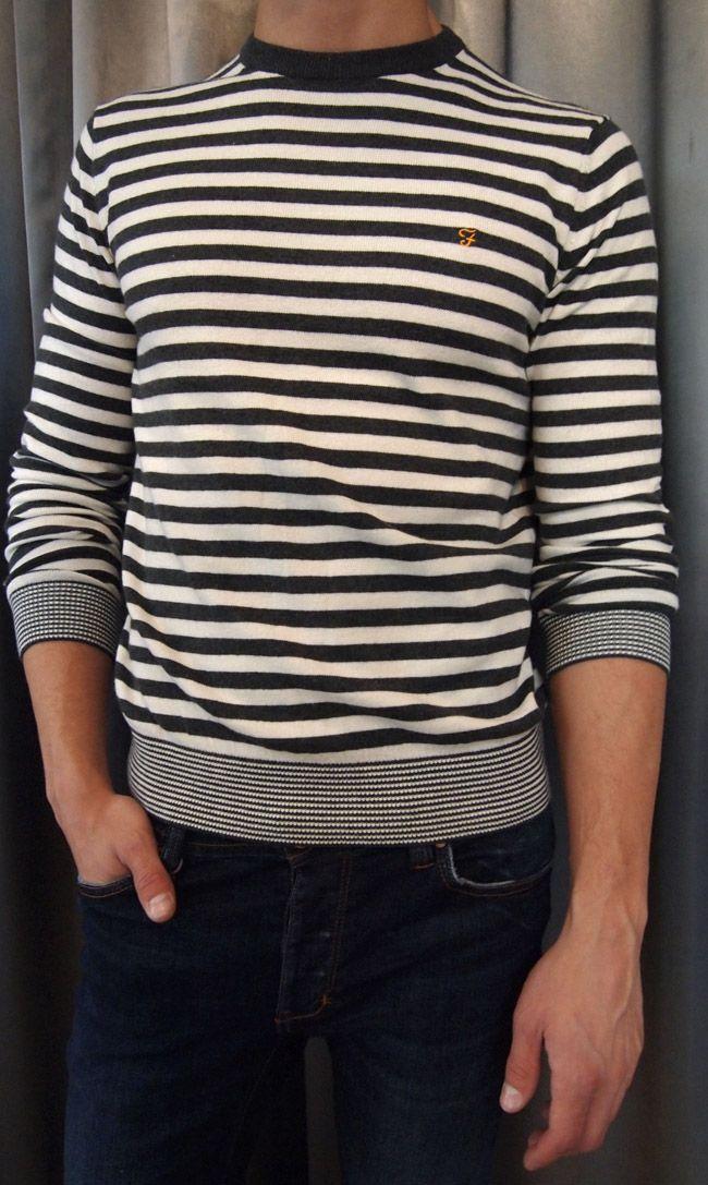Keeping the menfolk cozy - Farah striped sweater. Sizes L, XL. via GOTSTYLE