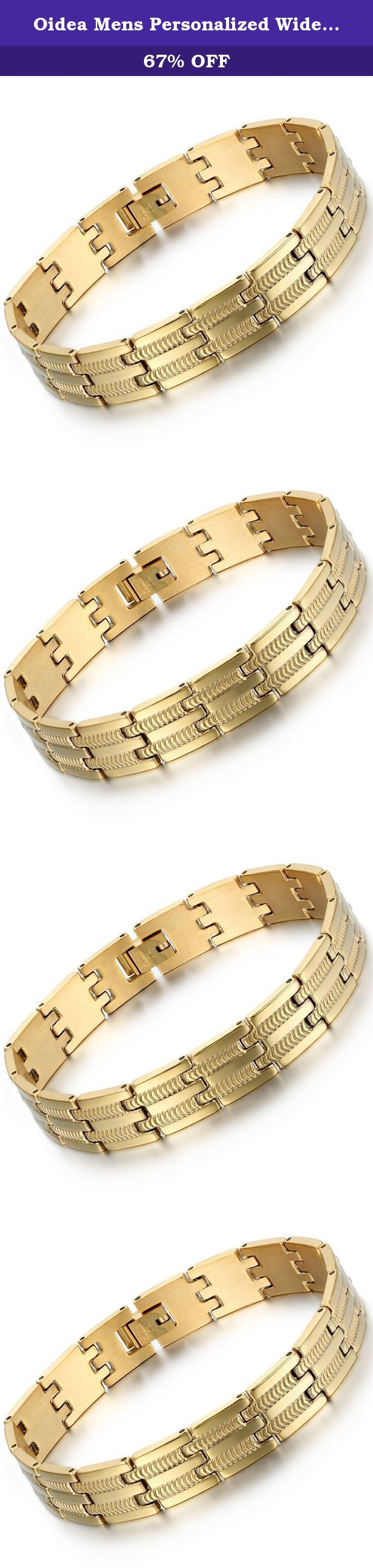 Oidea Mens Personalized Wide Stainless Steel Snake Bone Bracelet,Gold,with Gift Bag. An high-end personized men bracelet, perfect for daily wear or any high-end occasion Personalized snake bone chain bracelet Why choose Stainless Steel Jewelry Stainless steel does not readily corrode, rust or stain with water as ordinary metal does Its resistance to corrosion and staining, low maintenance and familiar lustre make it an ideal material for jewelry Able to endure a lot of wear and tear. And…