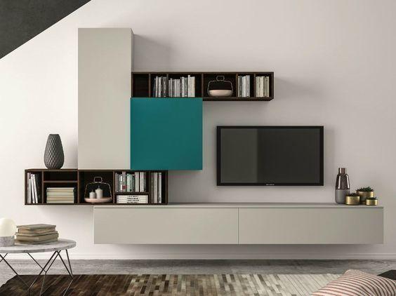 Mueble modular de pared composable SLIM 101 Colección Slim by Dall'Agnese   diseño Imago Design, Massimo Rosa: