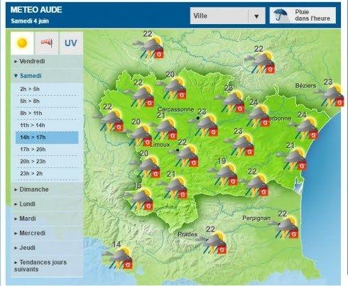 Risque de grêle annoncé ce samedi dans lAude et les Pyrénées-Orientales