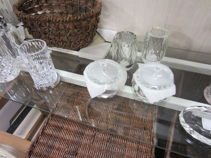 Possible master bath accessories- crystal- Home Goods ...