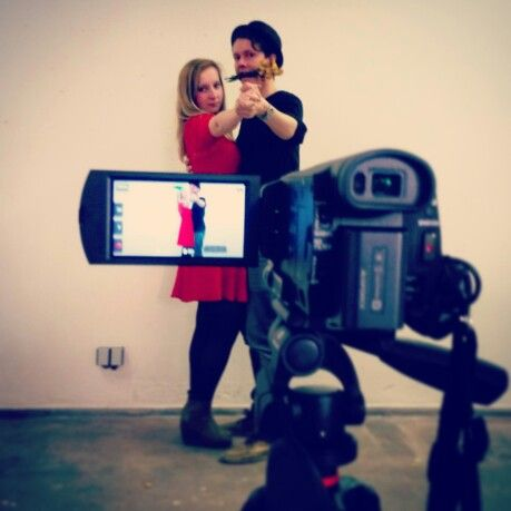 Film making, couple in love