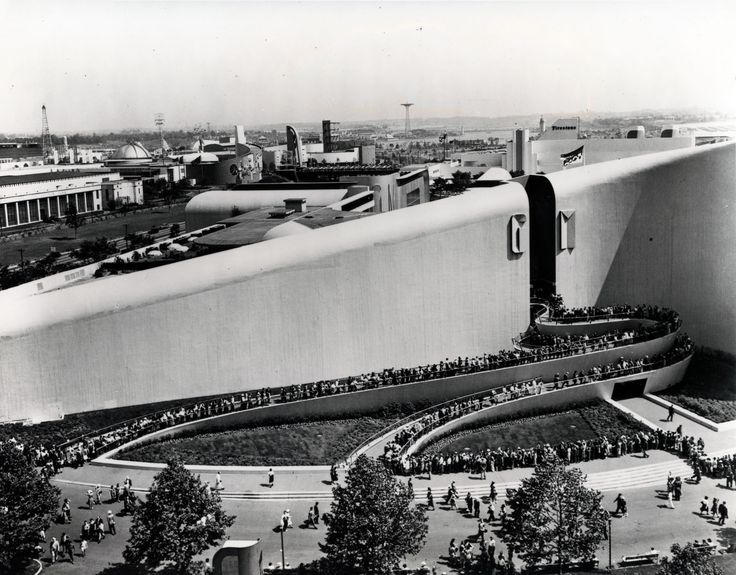1939 New York World's Fair - Architect Albert Kahn and designer Norman Bel Geddes collaborated on the General Motors Building for the New York World's Fair in 1939. courtesy the National Building Museum.
