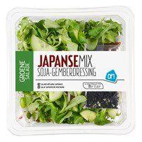 AH Groene salade Japanse mix evt gerookte zalmblokjes toevoegen