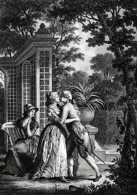 First Kiss Of Love ('La Nouvelle Heloise') by Nicolas Andre Monsiau