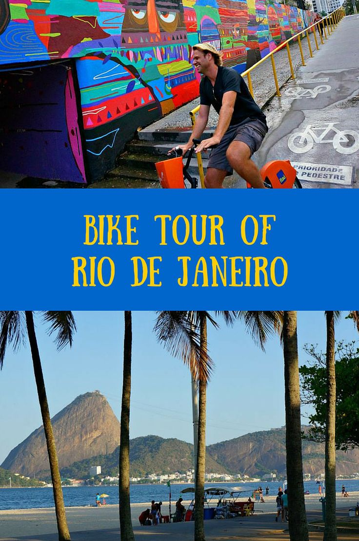 Best way to see Rio de Janeiro? By bike! Rio has wonderful biking paths that will take you to all of the famous beaches and iconic sights that you won't want to miss in Rio. Click to find out more! @Venturists