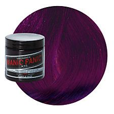 Manic Panic Purple Haze Hair Dye (Used this on my hair when it was dyed black with light brown highlights. The black was really dark with a bluish purple tinge, while the highlights were dark purple. I was happy with the subtle results.)