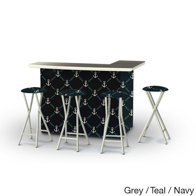 Best of Times Anchors Away Portable Patio Bar with Stools