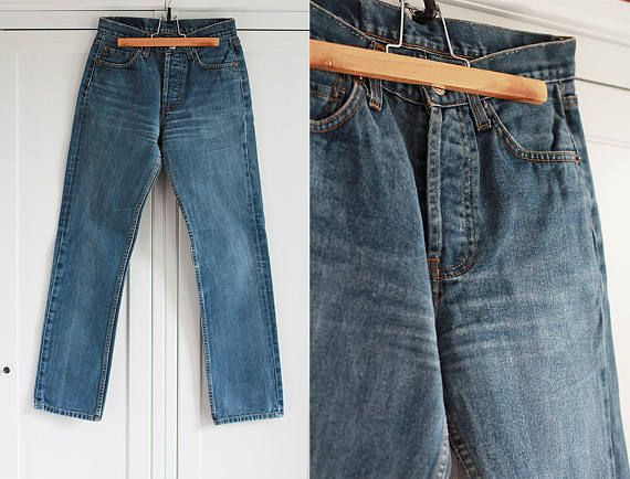 Levis 501 Jeans W31 L32 Vintage Jeans Blue Distressed Denim High Waist Jeans Unisex Blue Washed Out Pants Boyfriend Jeans Blue Pants 09y0Ijk7