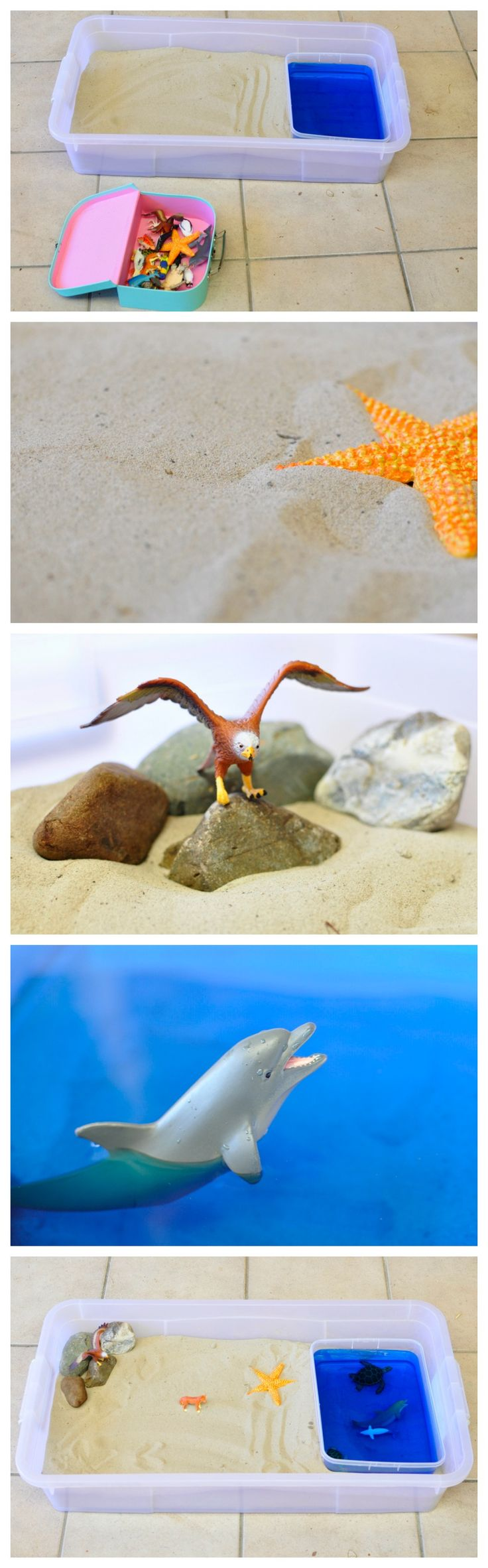 "Imaginative Play: Sand & Sea Animals.........Follow for Free ""too-neat-not-to-keep"" teaching tools & other fun stuff :)"