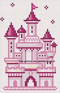 castle cross stitch chart