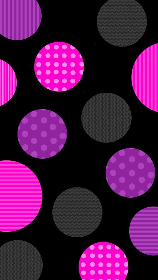 Pink Purple Dots Wallpaper