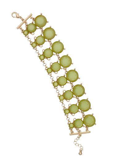 Chartreuse Beaded Bracelet $16