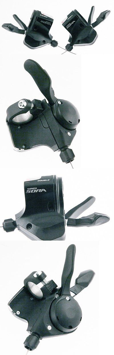 bicycle parts: Shimano Sora Sl-3500 2 X 9 Speed Flat Bar Road/Mtb Bike Shifters New -> BUY IT NOW ONLY: $43.97 on eBay!