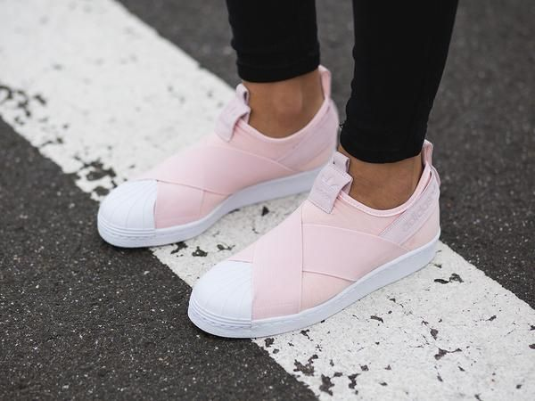 the latest 4e00b e9304 Adidas Superstar Slip On  Halo Pink