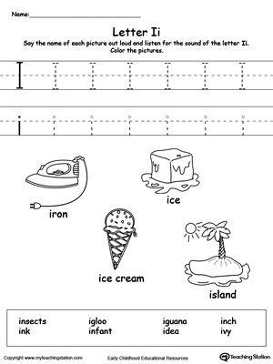 Best  Letter I Worksheet Ideas On   Kindergarten