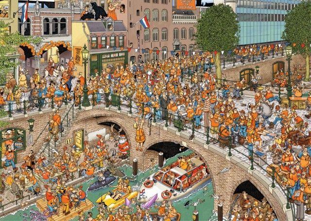 Jan van Haasteren: Koningsdag (1000 stukjes)