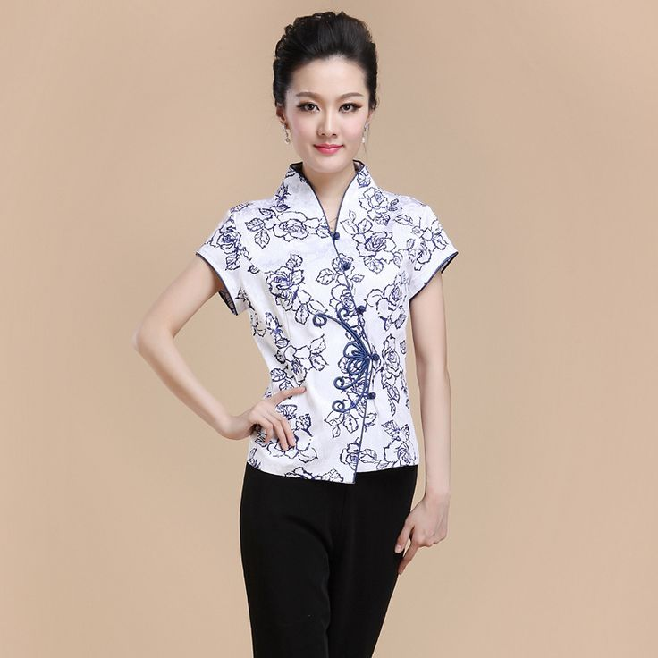 Hot Sale Summer Cotton Chinese Style Women Tang Suit Tops Blouse Vintage Traditional Chinese Shirt M L XL XXL XXXL 4XL T18 #Affiliate
