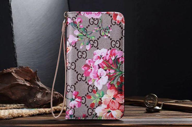 Galaxy S7 Wallet Case Fashion Red Flower