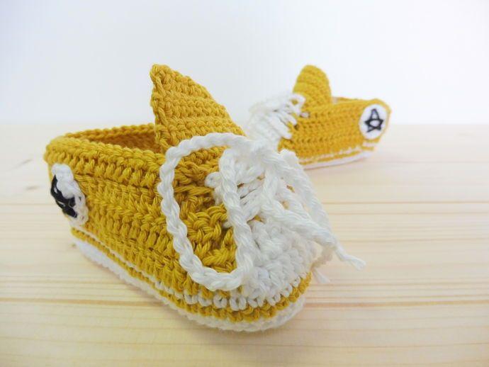 PUNTXET Patrón de converse de ganchillo para bebés #ganchillo #crochet #DIY #handmade #niños
