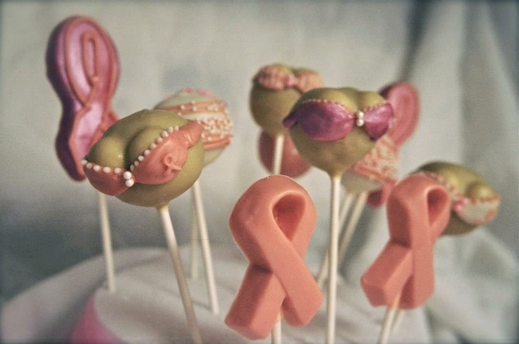 Breast Cancer Cake Pops