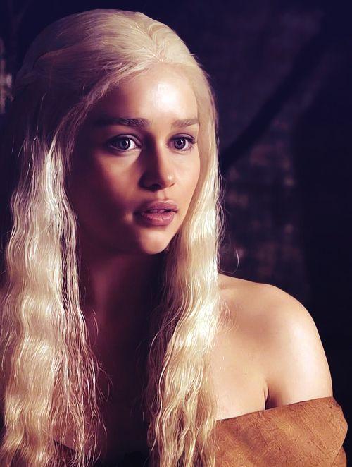 Emilia Clarke plays Daenerys Targaryen, First of her Name