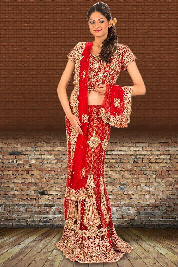 Shop Online Red Lehenga   Check out this page now :-http://www.ethnicwholesaler.com/lehengas/bridal-lehengas