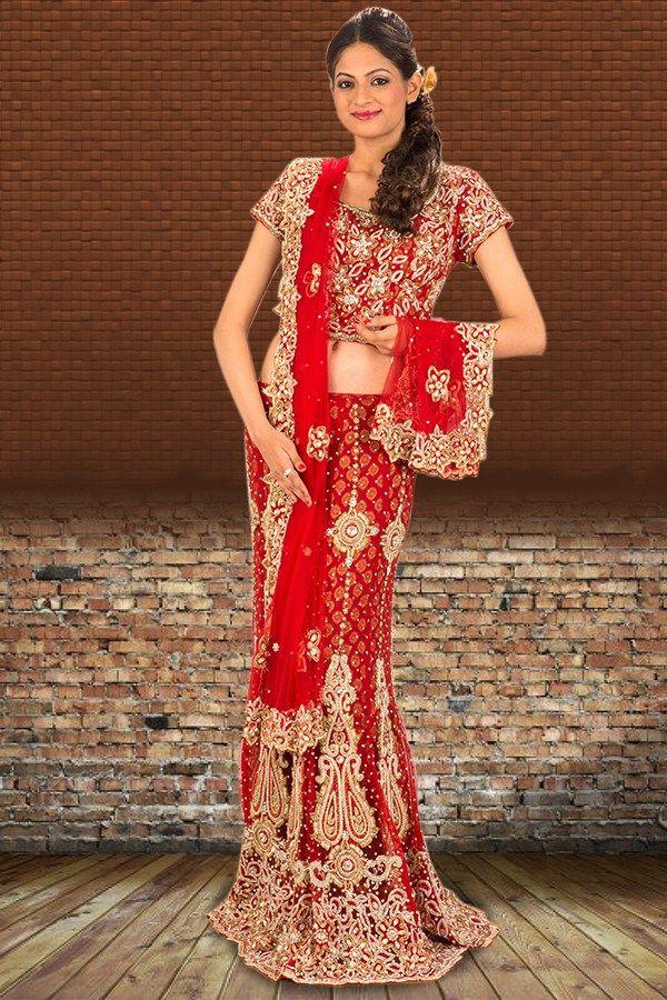 Shop Online Red Lehenga   Check out this page now :-http://www.ethnicwholesaler.com/lehengas/bridal-lehengas