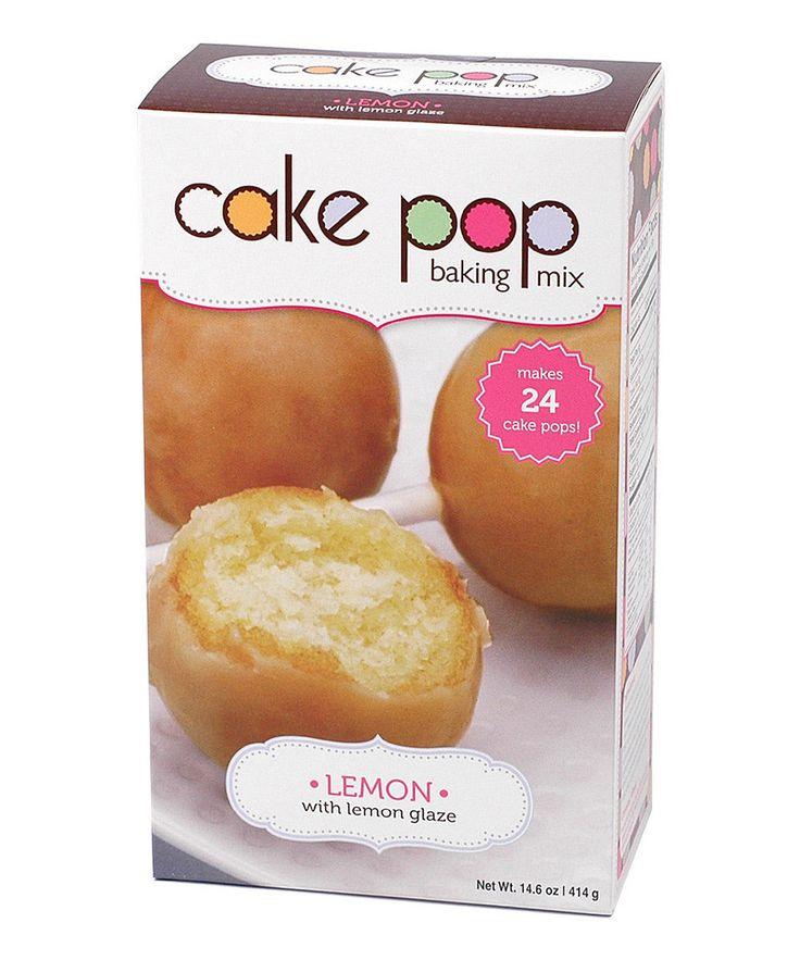 Lemon Cake Pops Babycakes