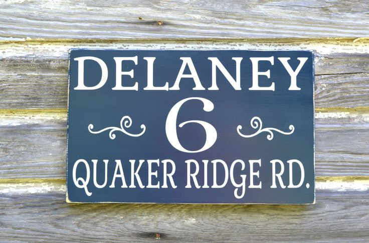 Personalized name address plaque custom house numbers sign painted outdoor wood home number - Decorative house number signs ...