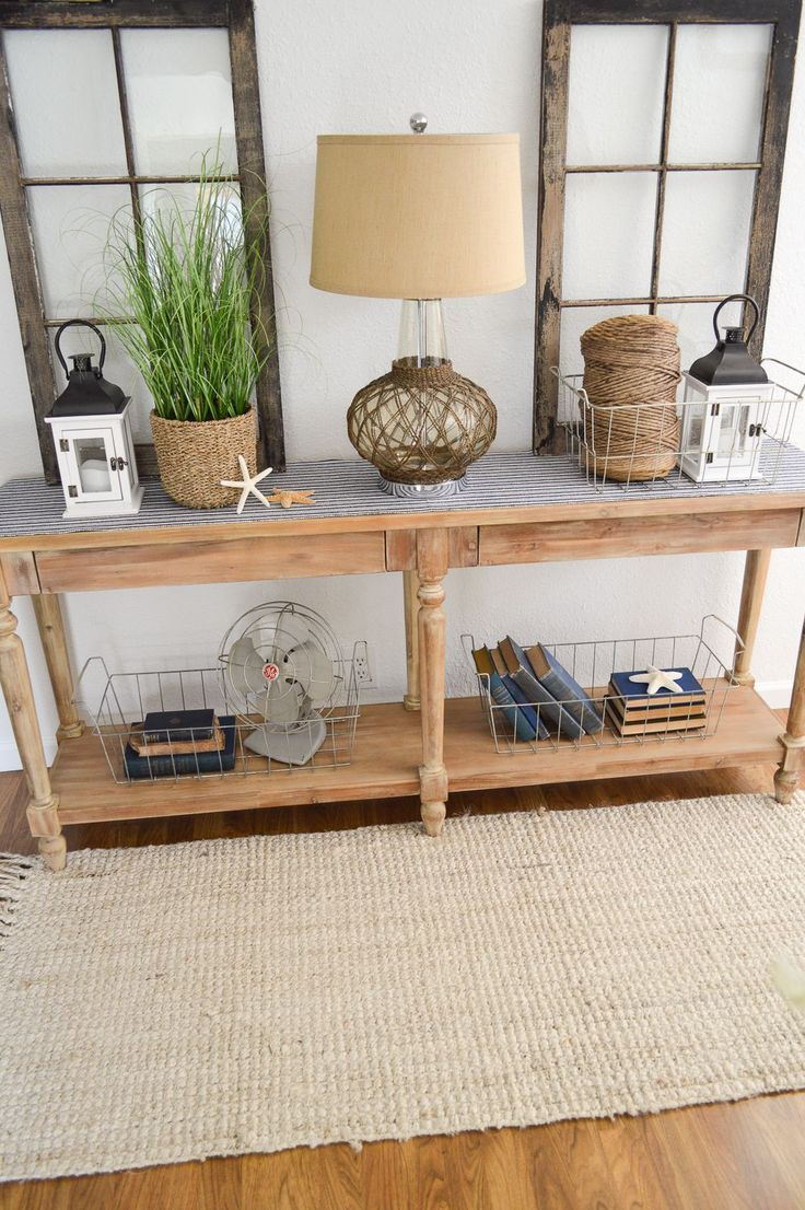 Best 25 coastal entryway ideas on pinterest console table decor summer entryway at the little cottage geotapseo Images