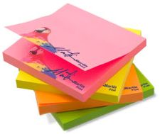 Talk to our experienced designers, and let's get cracking with compelling concepts that will entice your customers to use your STICKY NOTEPAD down to the very last leaf.  How about a unique quotation per leaf? Or cool illustrations that spring into animated action when the pad is flipped?