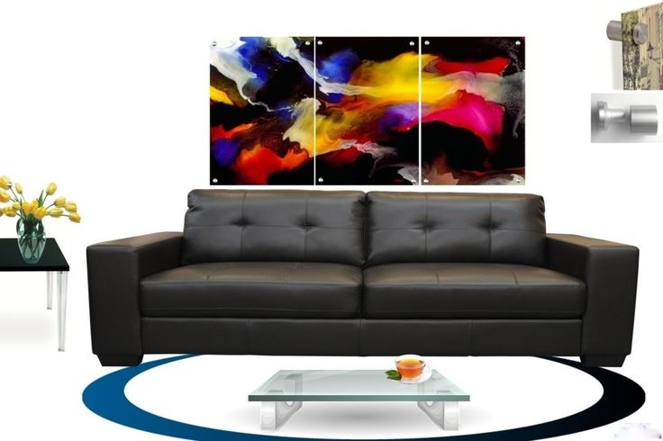 Wall Art Abstract Floating Acrylic Glass Plexiglass Modern Art  Decor 3 Panel #Modern