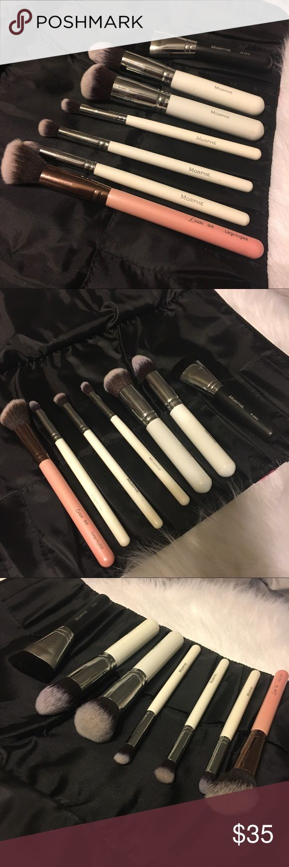 Makeup Brush Bundle ✨Morphe Contour Makeup Brush Set ✨Morphe M460 Flat Contour Brush ✨Luxie Large Angled Brush  All lightly used but have been cleaned and ready to ship 📦 Makeup Brushes & Tools
