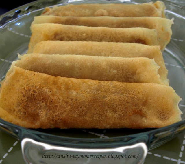 MY MOM'S RECIPES: { BENGALI } PatiShapta (Crepes/Pancakes with Coconut Filling)