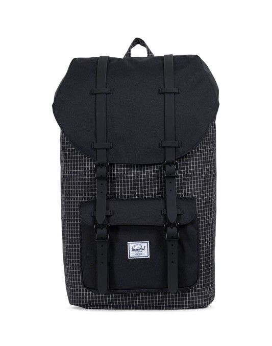 Herschel Little America Backpack Grid Black | Shop Now at The Idle Man | #StyleMadeEasy