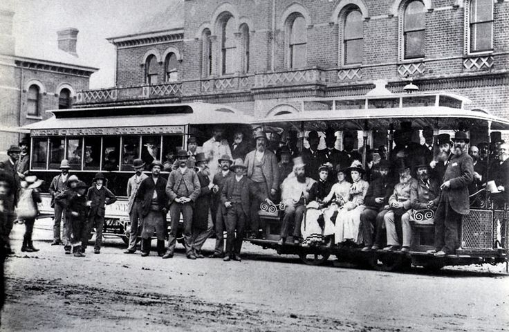 First trip of a cable tram on the Richmond route, 11 November 1885. Melbourne