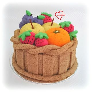 Loving Creations for You: 'Basket of Fruits' Chiffon Cake
