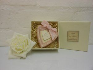 Bridesmaids Wooden Heart £7.99 Shabby chic East of India Bridesmaids wooden heart Thank you gift. A pretty pink wooden heart presented in a cream box saying Thankyou for being our bridesmaid: Dimensions Approx: H 9cm, W 9cm, D 4cm #wedding #bridesmaids #gifts