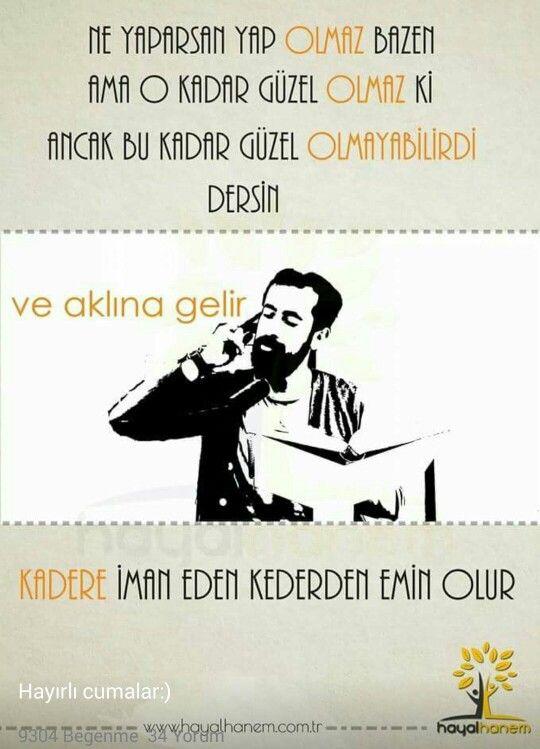 Kadere iman eden kederden emin olur .. Mehmet Yildiz - Hayalhanem