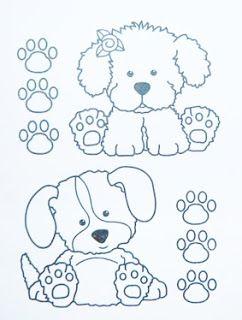 desenho de cachorrinhos