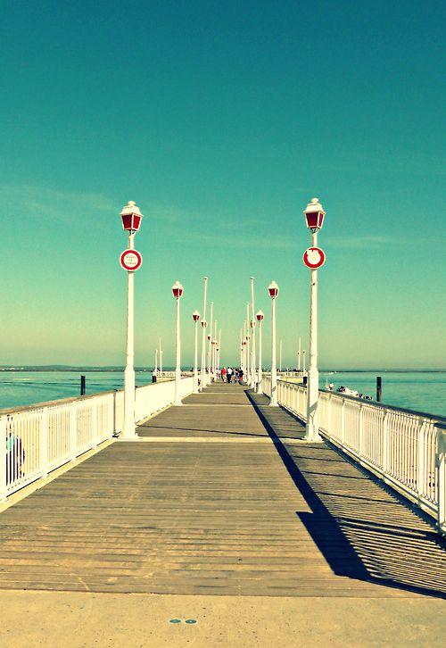 L'#embarcadère d'#Arcachon et ses couleurs de l'été !