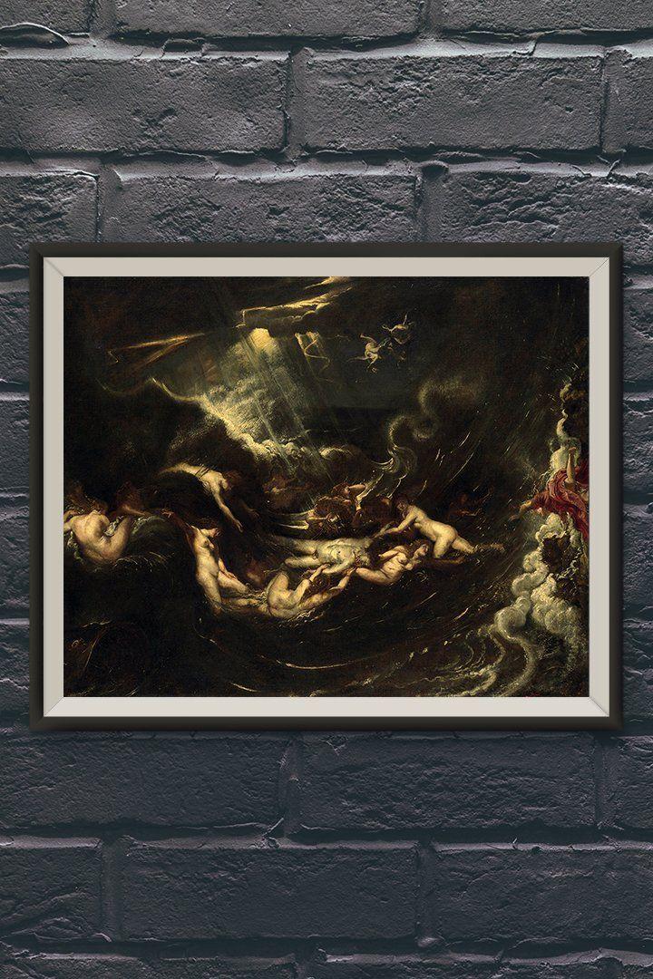 Hero And Leander Painting By Peter Paul Rubens Vintage Wall Art