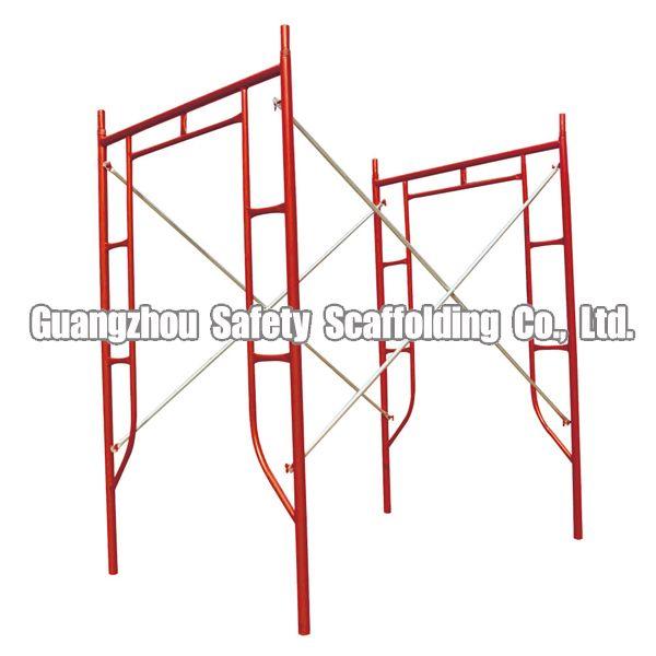 Mobile lightweight steel frame scaffolding system