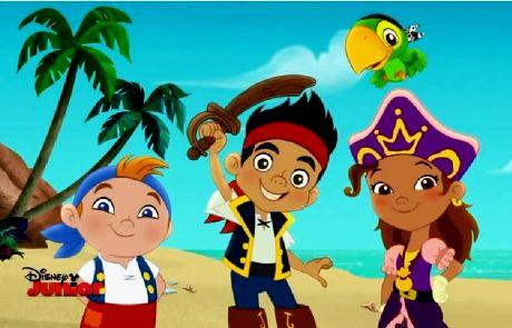 Dekoracje imprezowe Jake i piraci z Nibylandii.