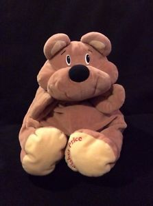 Fisher Price Rumple Bear Tan 1993 Plush Light Brown Soft Toy Stuffed Floppy