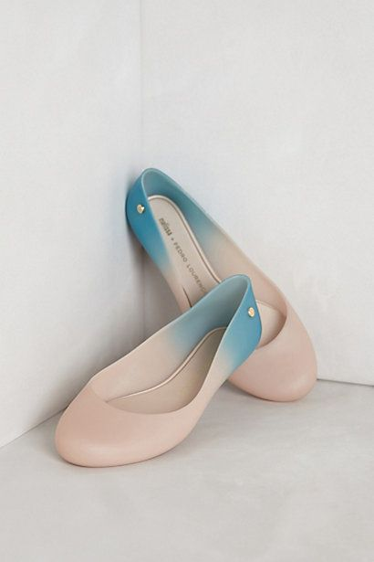 Ombre Rain Flats #anthropologie - Love Melissas! Have 2 pair already and would love to add these to my collection.