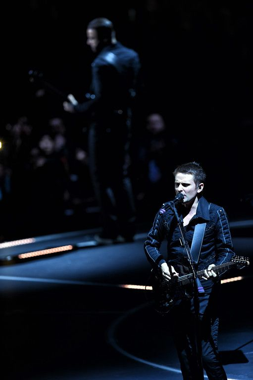 . Muse�s Matthew Bellamy performs during their concert at the Staples Center in Los Angeles, Friday, December 19, 1025. (Photo by Hans Gutknecht/Los Angeles Daily News):