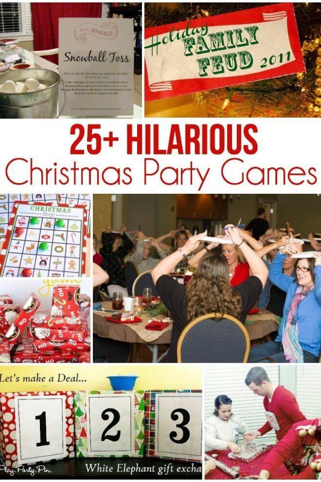25 der unterhaltsamsten Weihnachtsfeier-Spiele #spiele ...